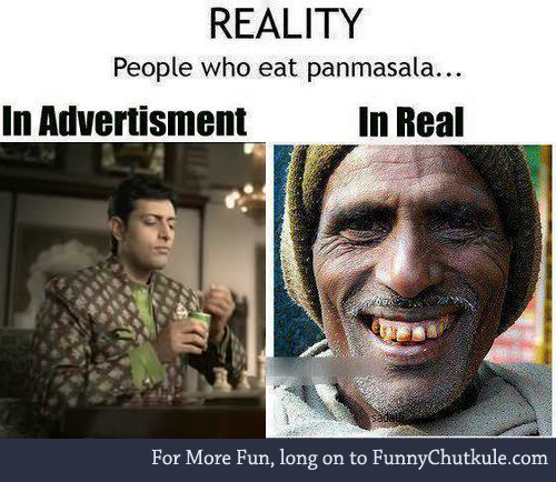 Eating Pan Masala - Reality - Jokofy Pictures